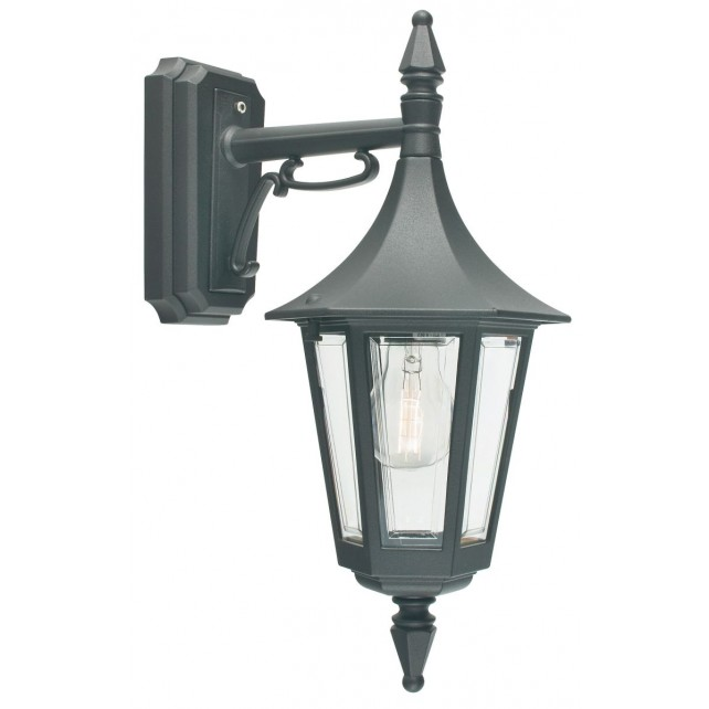 Norlys R2 BLACK Rimini Down Wall Lantern Black