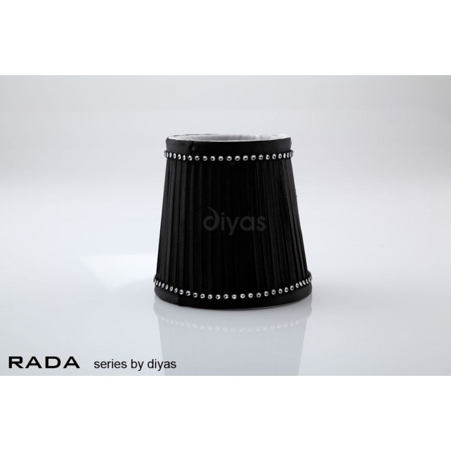 Diyas Rada Fabric Shade Black 85mm