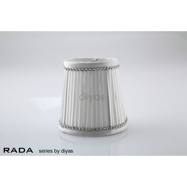 Diyas Rada Fabric Shade White 85mm