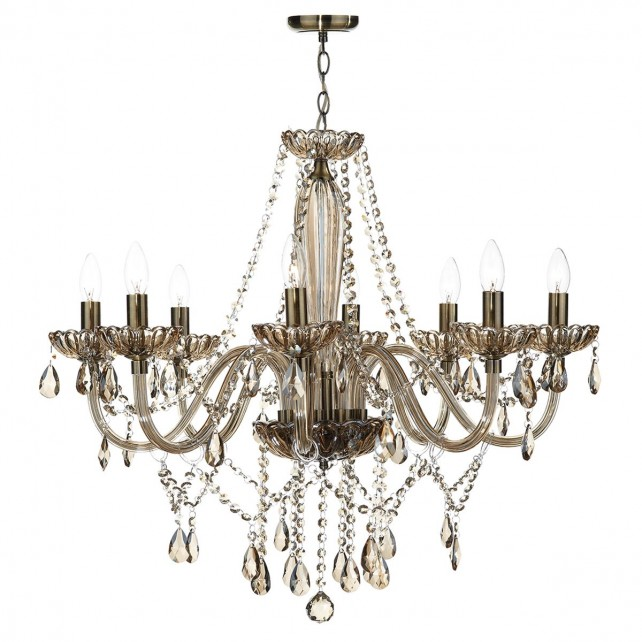 Raphael 8 Light Chandelier - Champagne Crystal