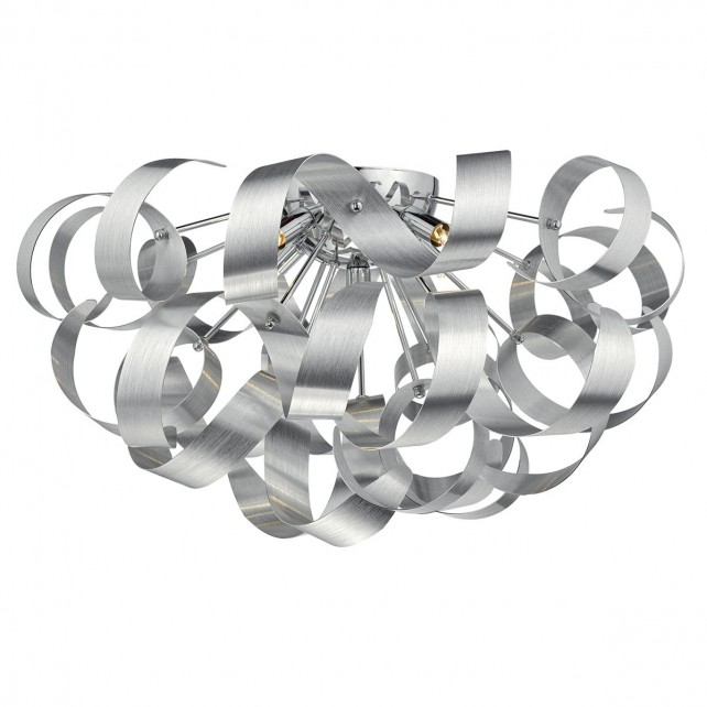 Rawley 5 Light Flush 60CM Brushed Aluminium
