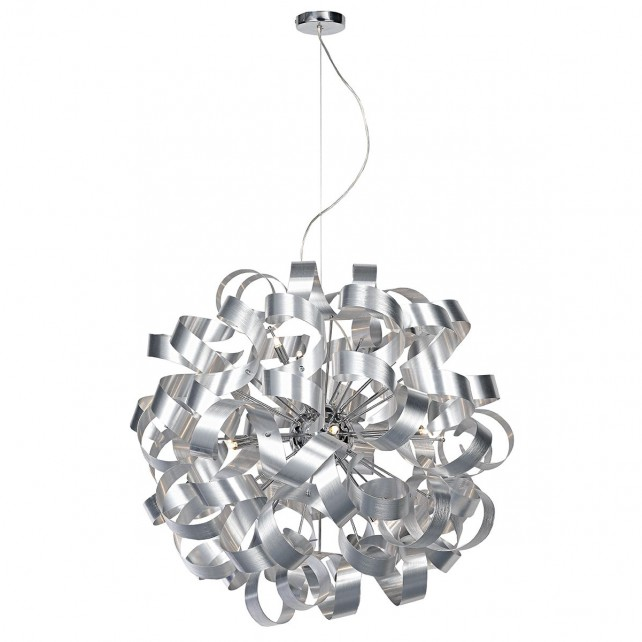 Rawley Ceiling Pendant 12 Light - Aluminium