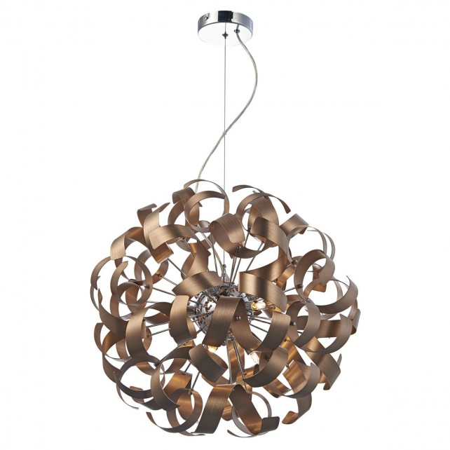 Dar Rawley 9-Light Pendant Copper