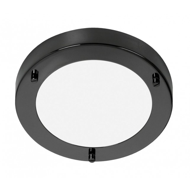 Oaks Lighting RONDO/18 MB Rror Black G9 Flush Light