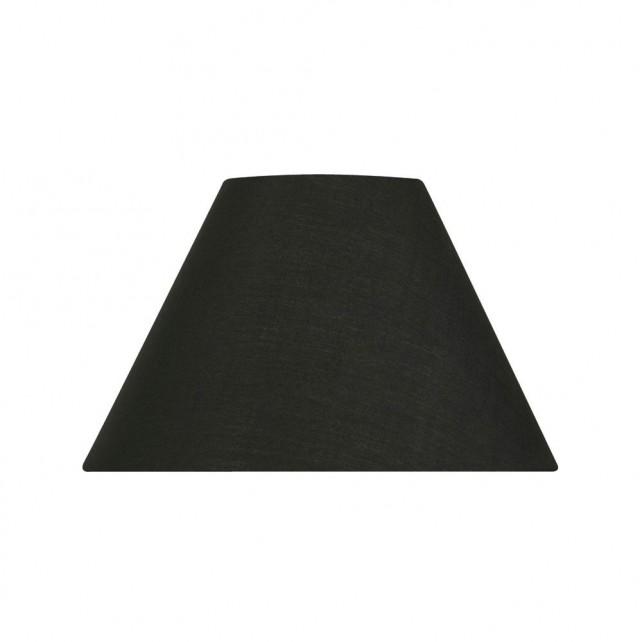 Oaks Lighting S501/20 BK Black Cotton Coolie Shade