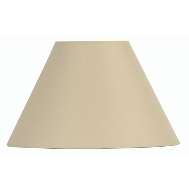 Oaks Lighting S501/8 BG Beige Cotton Coolie Shade