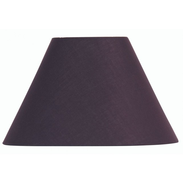 Oaks Lighting S501/8 PL Plum Cotton Coolie Shade