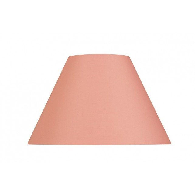 Oaks Lighting S501/12 PP Pale Pink Cotton Coolie Shade