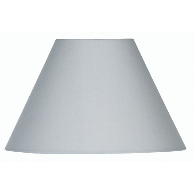 Oaks Lighting S501/12 SG Soft Grey Cotton Coolie Shade