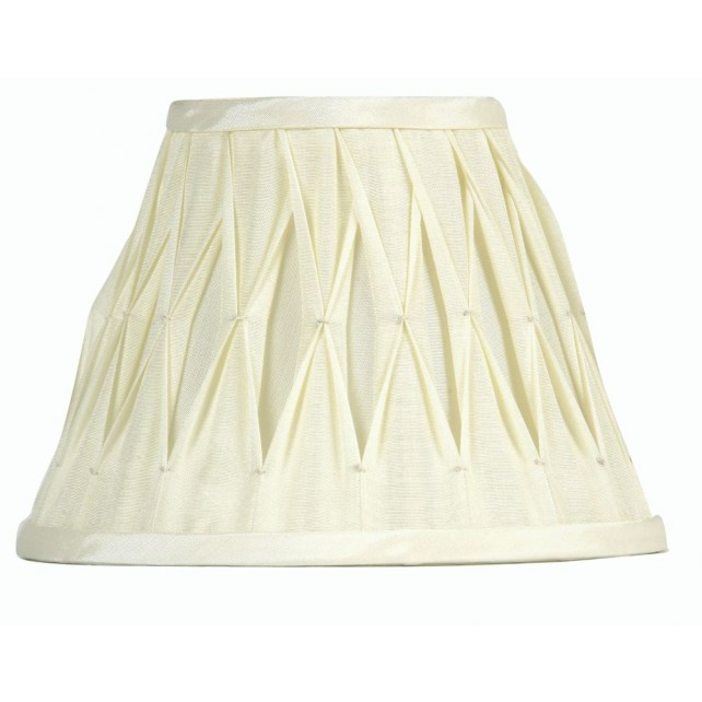 Oaks Lighting S601/16 IV Ivory Sutlej Silk Shade