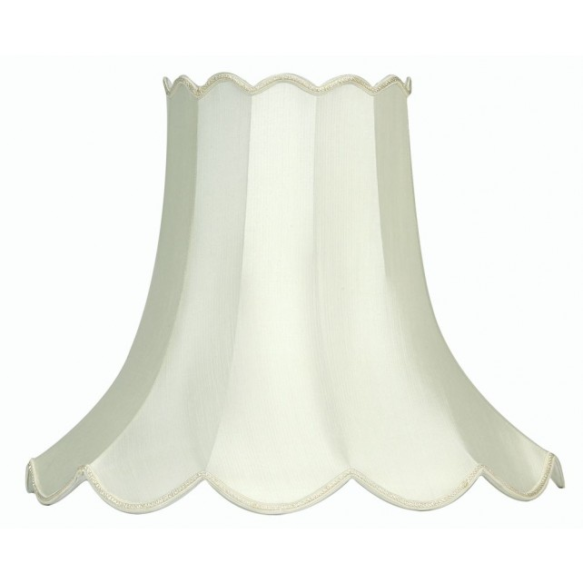 "Oaks Lighting S701/18 IV Ivory 18"" Scallop Shade"