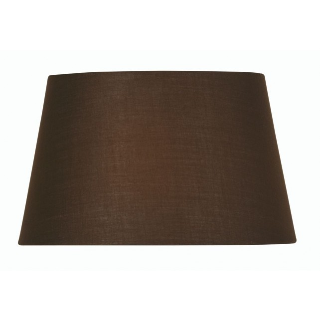 Oaks Lighting S901/6 CO Chocolate Cotton Drum Shade