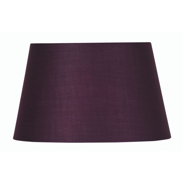 Oaks Lighting S901/12 PL Plum Cotton Drum Shade