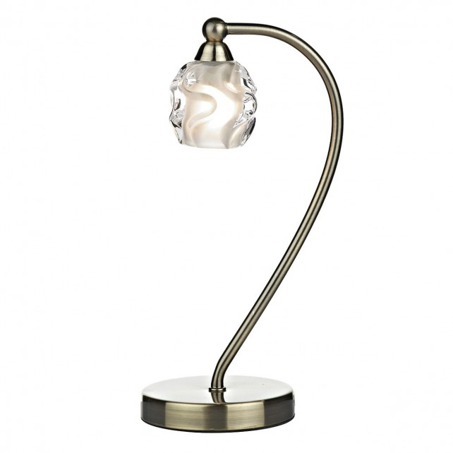 Seattle 1 Light Table Lamp - Antique Brass