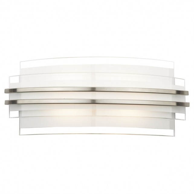 Sector LED Wall Light - Small, White, Opal Glass