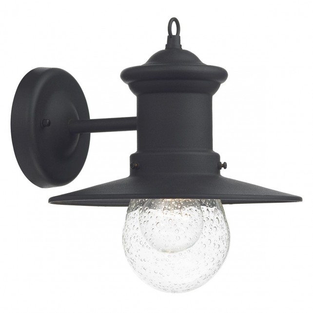Sedgewick 1 Light Lantern Black Down Facing IP44