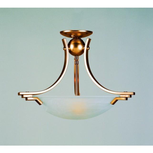 Impex Amora Ceiling Light Antique Brass - 2 Light