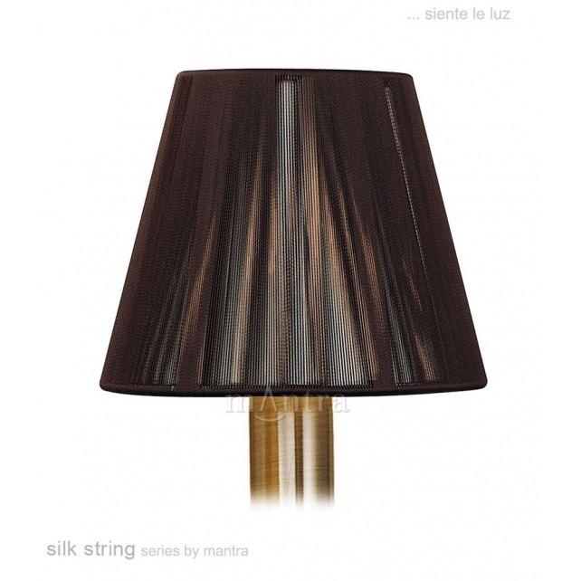 13cm Silk String Clip On Shade Dark Brown