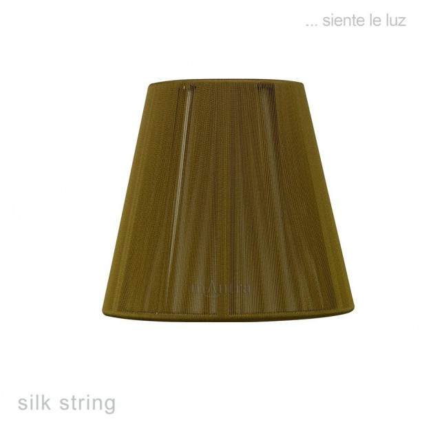 13cm Clip On Silk String Shade Olive