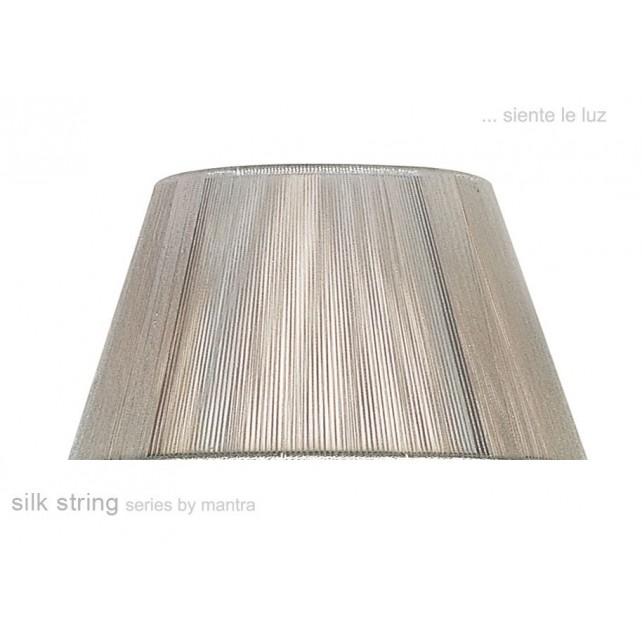 40cm Silk String Shade Silver Grey