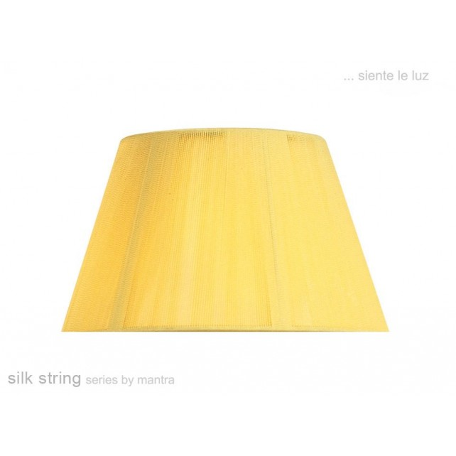 40cm Silk String Shade Amber Cream