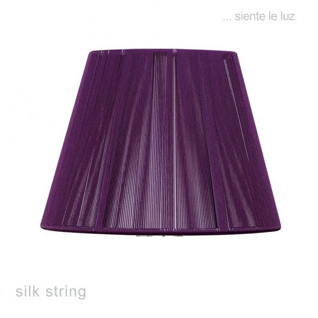 40cm Silk String Shade Aubergine