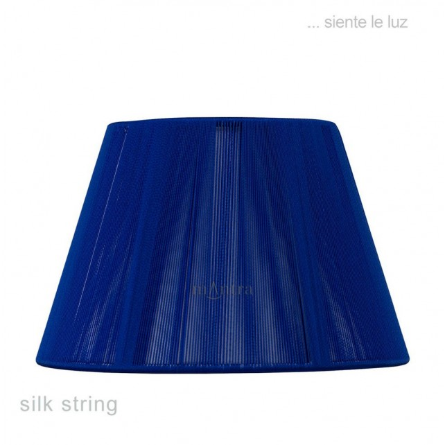 40cm Silk String Shade Midnight Blue