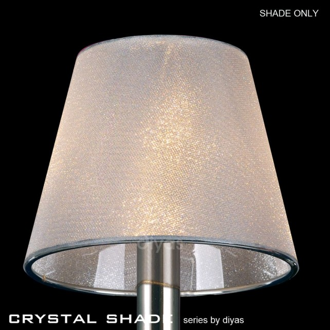 Diyas Clear Crystal Vinyl Shade