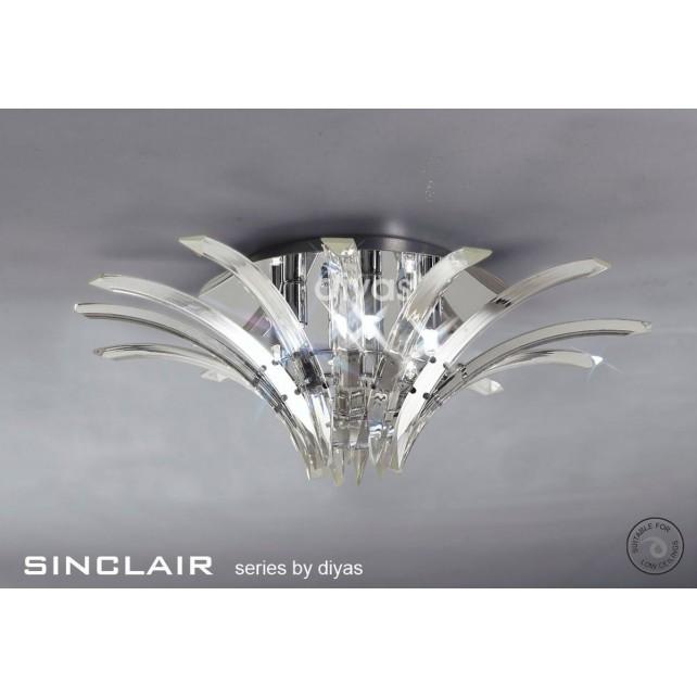 Diyas Sinclair Ceiling 4 Light Polished Chrome