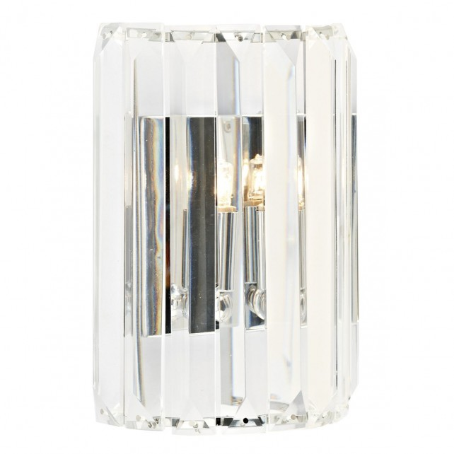 Sketch Crystal Wall Light - 1 Light, Polished Chrome