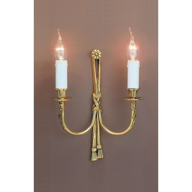 Impex Richmond Wall Light - 2 Light, Brass Plate & Gold Plate