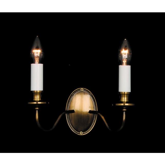 Impex Georgian Wall Light Bronze - 2 Light, Bronze