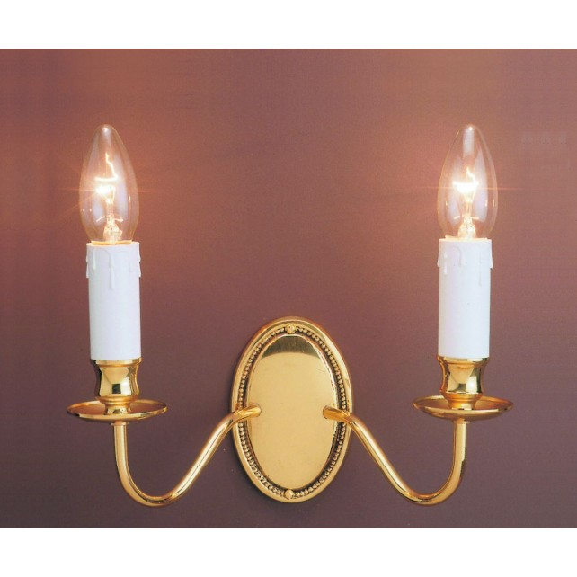 Impex Georgian Wall Light - 2 Light, Brass Plate & Gold Plate