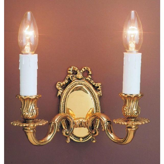 Impex Sandringham Wall Light Polished Brass - 2 Light