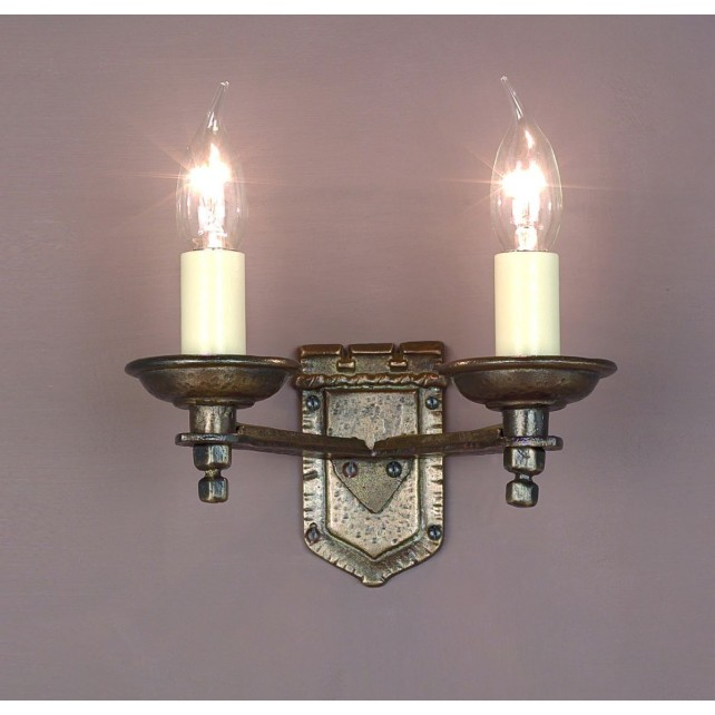 Impex Tudor Wall Light Bronze - 2 Light