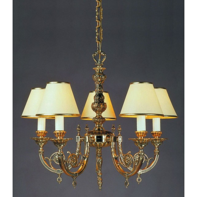 Impex Chelsea Chandelier Polished Brass - 5 Light