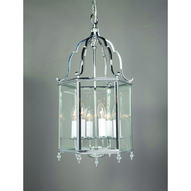 Impex Belgravia Lantern Chrome - 6 Light