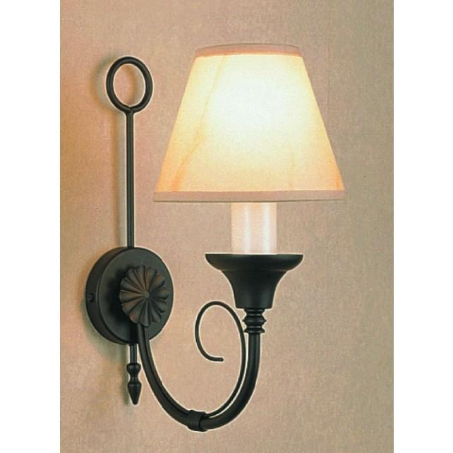 Impex Classica Wall Light Matt Black - 1 Light