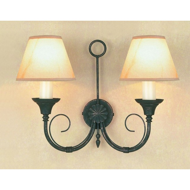 Impex Classica Wall Light Black Gold - 2 Light