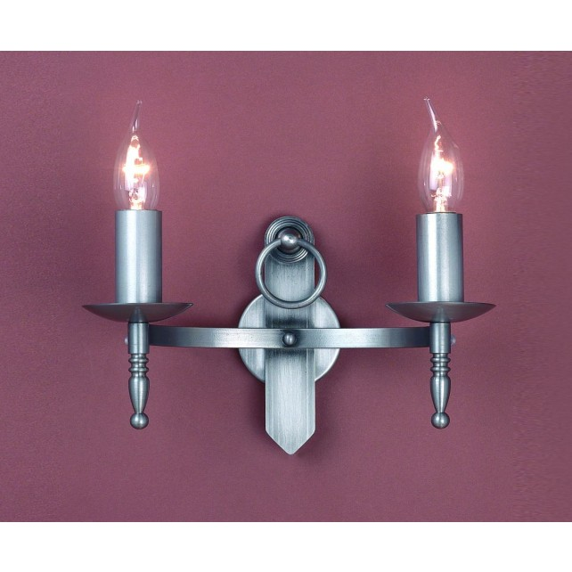 Impex Mitre Wall Light Sterling - 2 Light