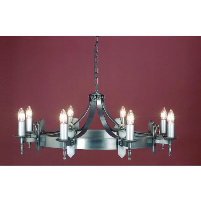 Impex Mitre Chandelier Sterling - 8 Light