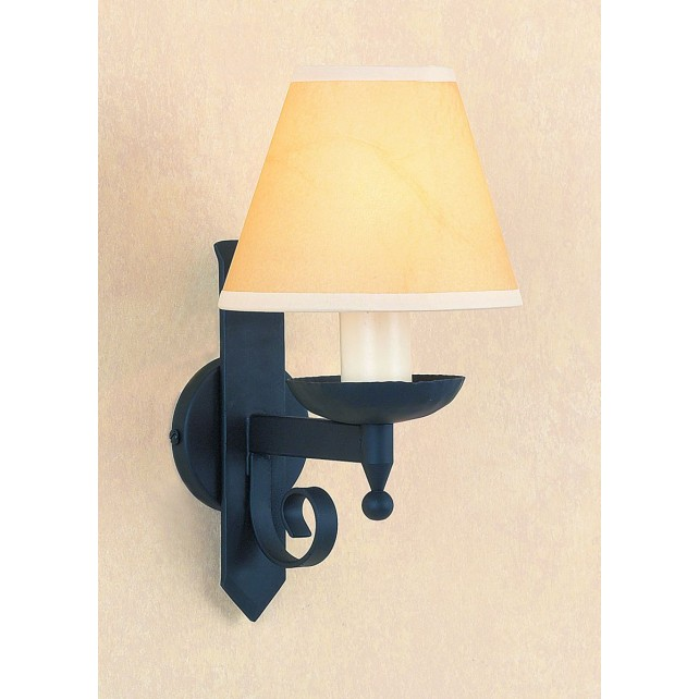 Impex Forge Wall Light Matt Black - 1 Light, Black