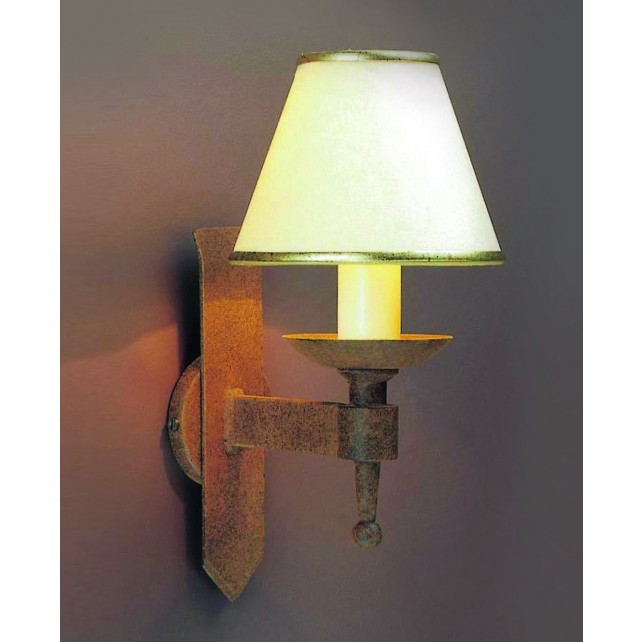 Impex Saxon Wall Light Aged - 1 Light, Brown