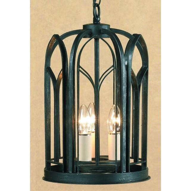Impex Villa Lantern Antique Black - 3 Light