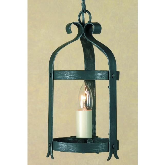 Impex Villa Lantern Antique Black - 1 Light, Black