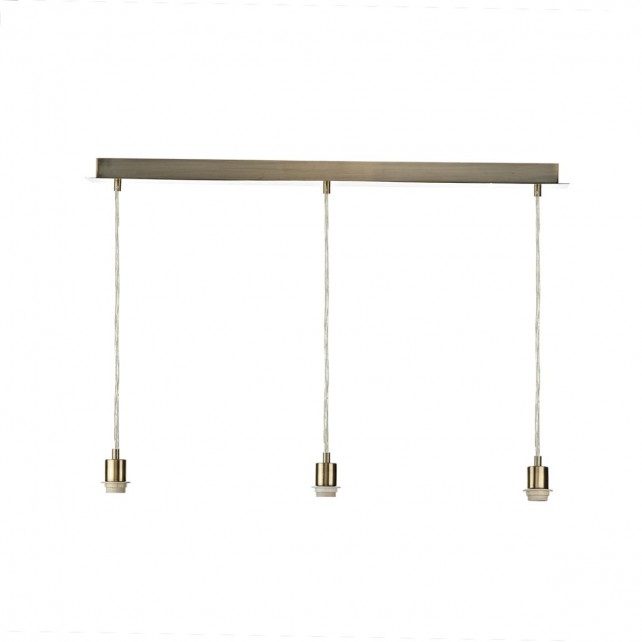 3lt Suspension Plate - Antique Brass for Shade SOF8629