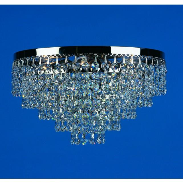 Impex Dortmund Ceiling Light Mirror Black - 3 Light