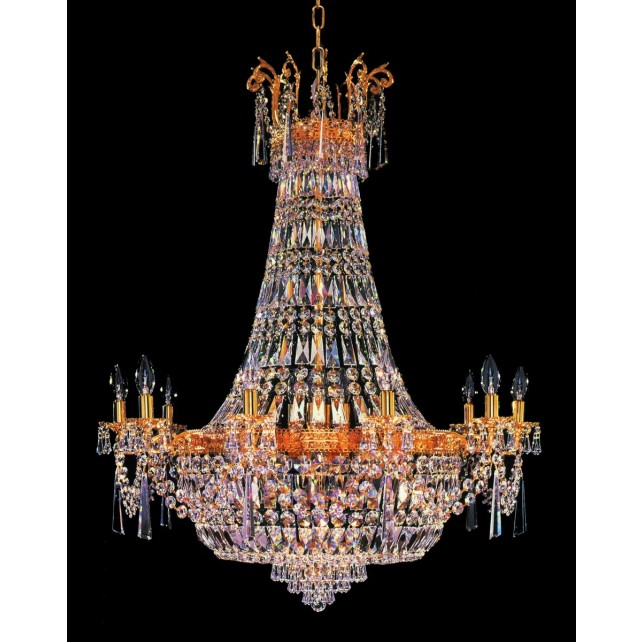 Impex Berlin Chandelier Gold Plated - 24 Light
