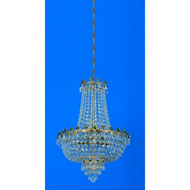 Impex Munich Chandelier Gold Plated - 8 Light