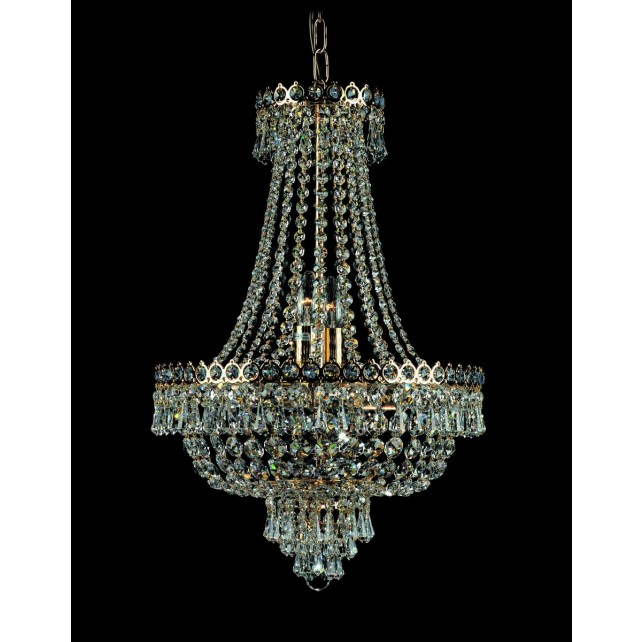Impex Cologne Chandelier Gold Plated - 8 Light